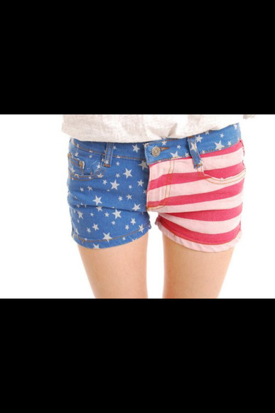 short usa shorts american flag