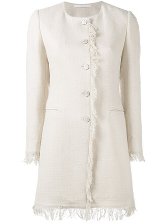coat women spandex nude cotton