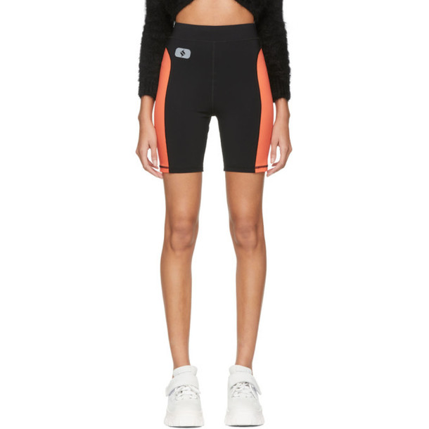 alexanderwang.t Black & Orange Jersey Biker Shorts
