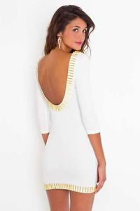 Nasty Gal Gold Rush Dress Brand New White Size Small | eBay