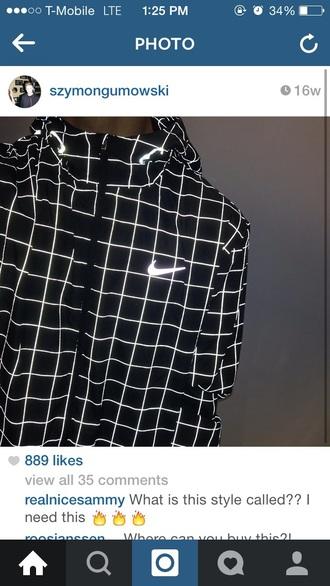 coat nike black jacket jacket nike jacket tumblr