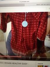 jumpsuit,red,off the shoulder,boho,chic,pattern,boho dress,sun,summer