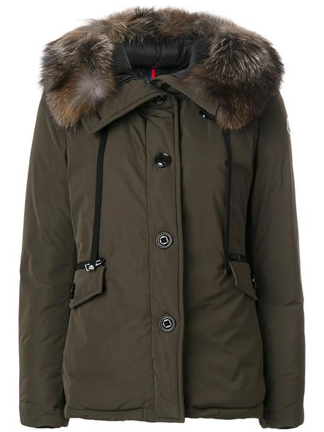 jacket fur fox women green