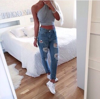 asos jeans ripped jeans high waisted jeans