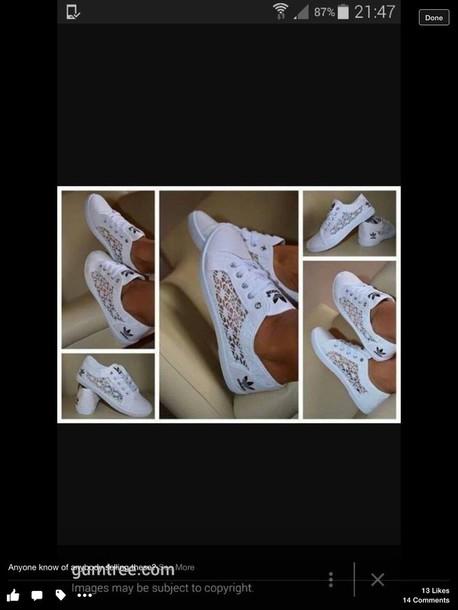 74822e772517d3 shoes adidas white lace pumps low top sneakers white sneakers lace adidas