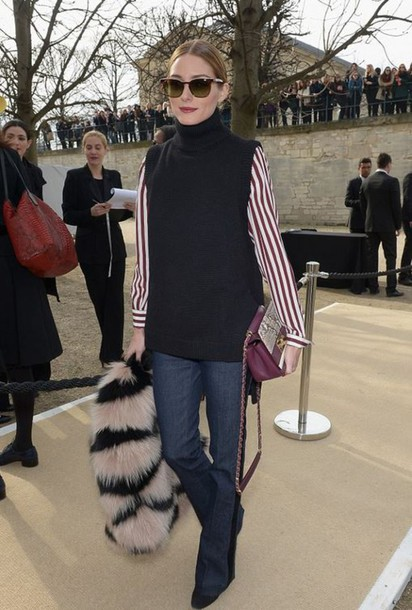 coat fur fur coat fashion week 2015 olivia palermo