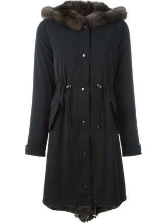 coat women drawstring black