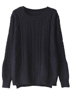 Low cable sweater