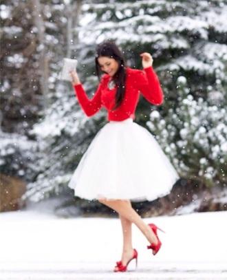 skirt white skirt cute skirts tumblr outfit tulle skirt