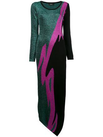 dress metallic women wool knit grey