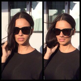 sunglasses bold black sunglasses adriana lima