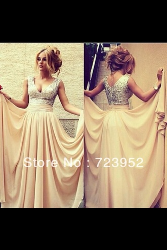 dress pink dress pink champagne dress prom dress long prom dress 2014 prom dresses pretty gorgeous fashion bridesmaid cream sparkly dress beige beige dress champagne prom dress