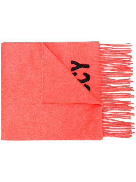 gucci women scarf knitted scarf silk yellow orange
