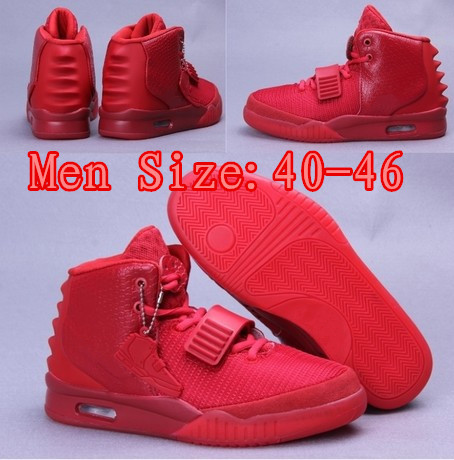 promo code 58198 3ccea Air Yeezy 2 Red October Kanye West 2013 New Lmited Edition Shoes Mens  Basketball Shoes With ...