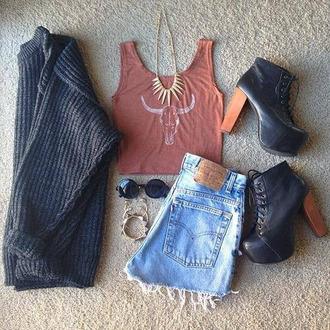 top chaussures bijoux haut pullover tee-shirt short