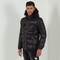 Fur puffer coat - black