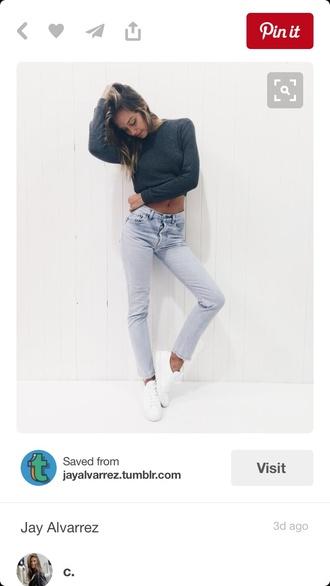 pants shirt jeans alexis ren cute pretty shoes long shirt tumblr fashion whole outfit.. good vibes
