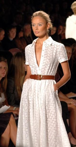 dress modern classic white dress day dress lace dress belted dress summer dress spring dress collared dress button down dress