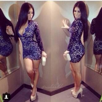 blue blue dress lace dress dress mini dress sexy dress bodycon dress