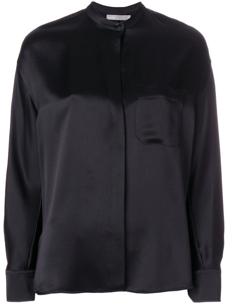 Vince blouse women black silk top