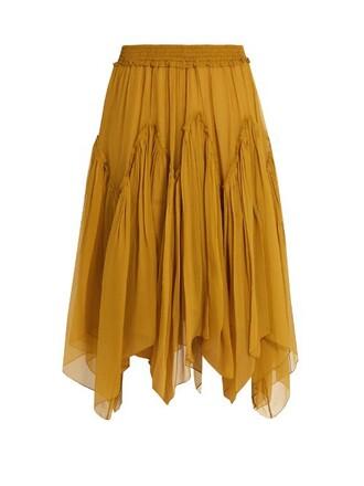 skirt silk yellow