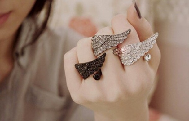 jewels wings ring dress