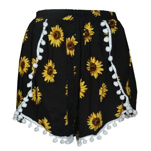 Sunflower pom shorts � pastel ♡ mint � online store powered by storenvy
