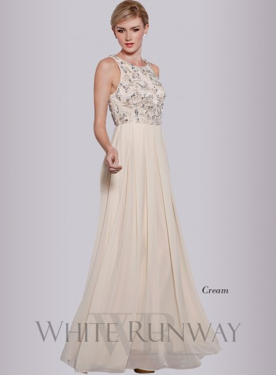 Embellished full length bridesmaid dress