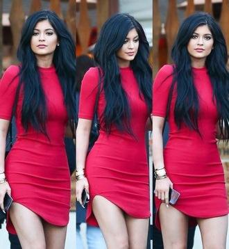 dress red dress kylie jenner jumpsuit