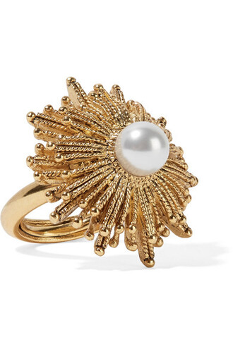 sun pearl ring gold jewels