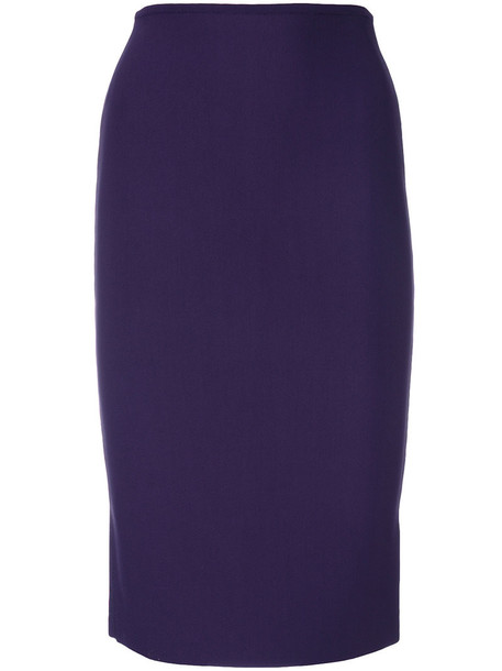Roland Mouret skirt pencil skirt women spandex purple pink
