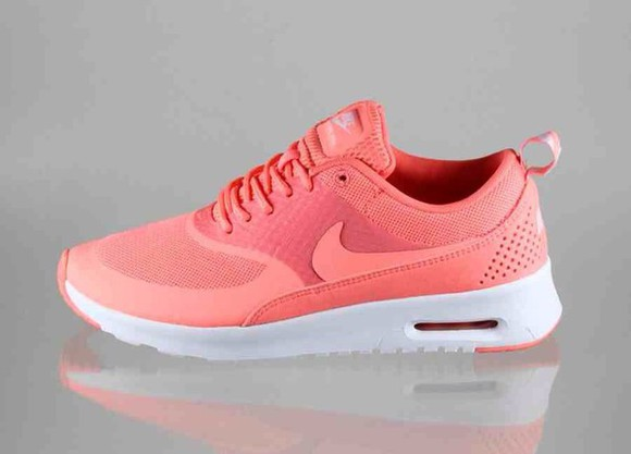shoes trainers nike running shoes air max peach girls girls sneakers nikethea summer shoes flurescent flourescent trainers, nike, running, turquoise, sneakers, spor
