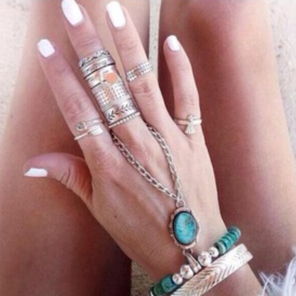 jewels whitennails ring bracelets accessories jewelry silver statement