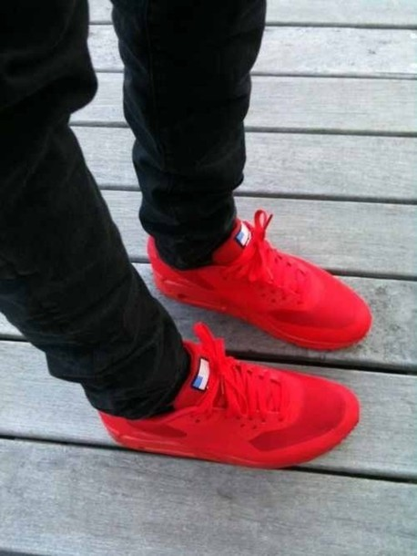 shoes sneakers nike red