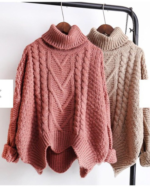 sweater girly knitwear knit knitted sweater oversized sweater turtleneck turtleneck sweater