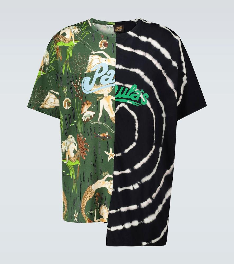 Paula's Ibiza asymmetric printed T-shirt