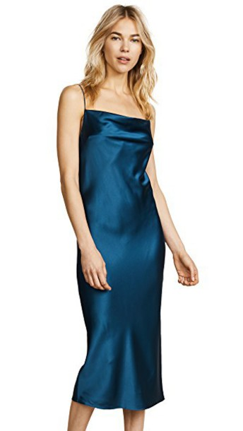 dress slip dress teal