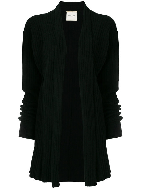 cardigan ribbed cardigan cardigan long women black wool sweater