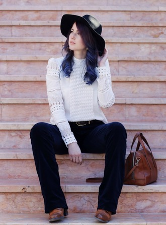 like a riot blogger blouse belt hat folk