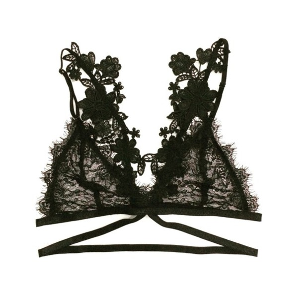 b7d4f92dd6 underwear yokoyaki black black lingerie lace bralette top crop tops lace  lingerie lace top sheer strappy