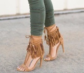 shoes,fringed heels,strappy heels
