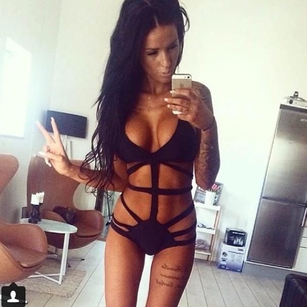 swimwear bikini girly sexy black
