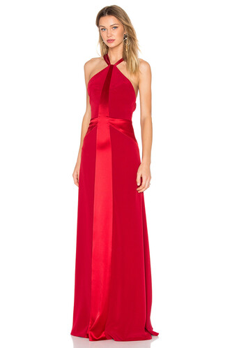 gown back red