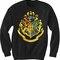 Unisex crewneck sweatshirts hogwarts logo design