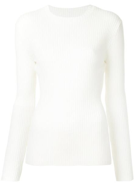 Des Pres top women white wool knit