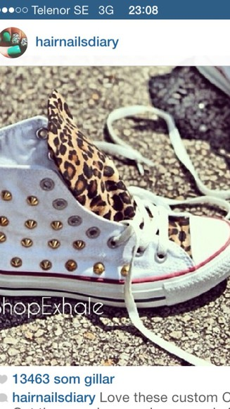leopard print shoes converse gold