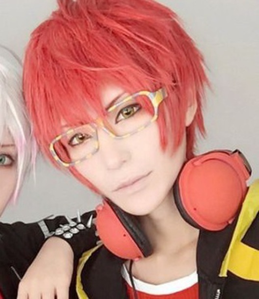 sunglasses yellow anime mystic messenger