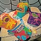 hat,cap,visor,rugrats,fresh prince,tie dye