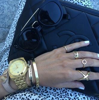 jewels ring jewelry gold bracelets stacked bracelets