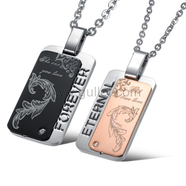 2fc0b71039 Engravable Matching Promise Necklaces for Married Couples Set of Two Personalized  Couples Gifts | His Her ...